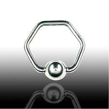 1.6mm Piercing Hexagon Ring Brust Intim Ohr Septum Piercing