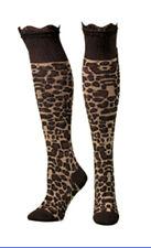 Blazin Roxx Women's Brown Leopard with Polka Dot Top Socks 3 Pair