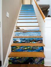 3D Blue sky seawater 520 Risers Decoration Photo Mural Vinyl Decal Wallpaper US