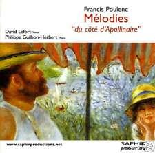 """FRANCIS POULENC melodies """"du coté d'Apollinaire"""""""