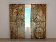 "Fotogardinen ""Kompass"" Vorhang Fotodruck, Fotovorhang, Maßanfertigung"