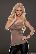 Women's Party Club Wear Spaghetti Strap Blouse Shirt Top Wear UK size 10