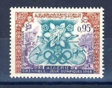 TIMBRE ALGERIE NEUF N° 454 **  JEUX OLYMPIQUES D'HIVERS DE GRENOBLE