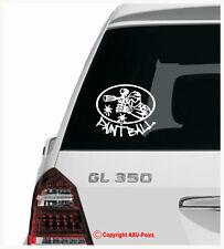PAINTBALL - Tippmann JT Piranha paintball marker -oval- van  car sticker decal