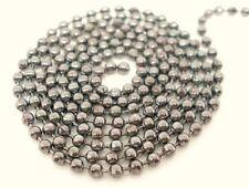 Tono Plata Cadena Bola 2,4 mm de joyería artesanal Collar Abalorios resultados Ml