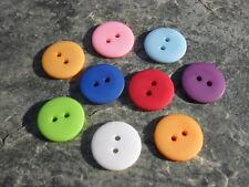 (1)  10 Knöpfe Kunststoff ø 18 mm 1,8 cm Farbwahl bunt flippig Jacke Bluse Hemd