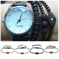 Popular Men Adjustable Zircon Evil Eye Ball 4MM Beads Braiding Macrame Bracelets