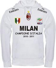 FELPA MILAN CAMPIONE D'ITALIA magllietta t-shirt POLO MAGLIA milano inter juve