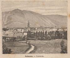 1891 Abruzzo Sulmona xilografia
