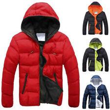 Mens Padded Bubble Hooded Coat Puffer Jacket Winter Warm Bomber Outwear Overcoat