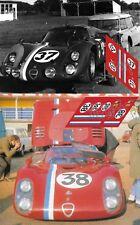 Calcas Alfa Romeo 33/2 Le Mans test 1968 1:32 1:24 1:43 1:18 64 87 slot decals