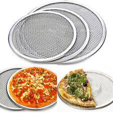 "6""-14' Seamless Aluminum Pizza Screen Mesh Oven Baking Tray Round Pizza Plates"