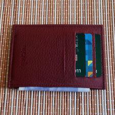 Real Leather Slim Credit Card Holder ID Holder Wallet Real Leather Cardholder