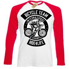 Bicycle Team T-Shirt Ride for life Mens Baseball