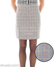 Relco Womens Classic Tweed Overcheck Fitted Skirt 60s Mod Skin Ska Skinbryd