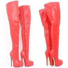 Big Size 36-46 Women Super High Heel Overknee High Leg Cosplay Clubwear SM Boots