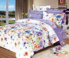 Queen Size Bed Duvet/Doona/Quilt Cover/Sheet Set Stylish 100% Satin Cotton