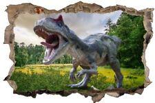 Dinosaurier Dino Wiese Bäume Wandtattoo Wandsticker Wandaufkleber D0566