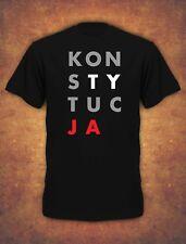Konstytucja Koszulka Protest Polska 2019 Unia Europejska   Mens T-shirt - black