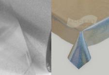 IMPERMEABILE FROZEN Argento Glitter Trasparente Chiaro PVC Vinile Tovaglia Bling