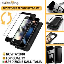 COVER CUSTODIA MAGNETICA 360° FRONTE RETRO CON VETRO APPLE IPHONE 6 6S 7 8 X XS