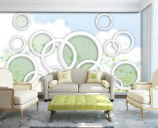 3D Rings Flowers Vines 3074 Wallpaper Decal Dercor Home Kids Nursery Mural Home