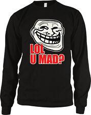 LOL U Mad? Trollface Meme Face Troll Cool Internet Angry Blog Post Men's Thermal