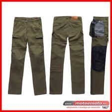 Blauer Jeans Moto Stuart Cargo Verde Militare canvas Protezioni Pantaloni