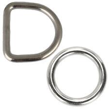 Ringe D-Ring geschweißt poliert O-Ring Metallring Edelstahl A4 Stahlring Öse