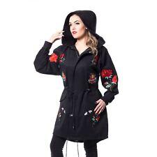 Rockabella Rose Tour Coat Ladies Black Goth Emo Punk Comic Con Dress up