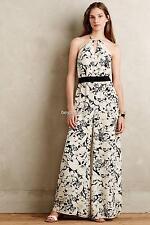 NEW Anthropologie Elevenses Lilium Silk Jumpsuit  Size S & M  $188