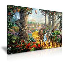 El Mago De Oz Película Lona Musical Fantasy Pared Arte Foto impresión ~ 9 Tamaños