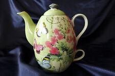 Porcelain Tea for One Teapot & Mug Set...butterfly garden...7 unique designs