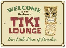 Welcome Tiki Bar Sign, TIki Lounge Decor, Tiki Man Aluminum Sign ENSA1003375