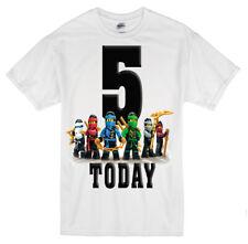 Lego Ninjago Kids Personalised  Birthday T shirt Any name, Age Size 1-13 yrs