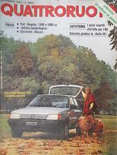 Quattroruote 337 1983 Prove Peugeot 205,Alfetta Quadrifoglio,Chevrolet
