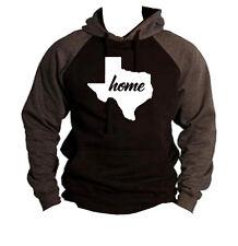 Home Texas Map Black Raglan Hoodie sweater State Pride Homeland Hometown TX V270