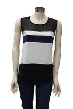 T-Shirt smanicata da donna bicolore bianco nero North Sails girocollo moda righe