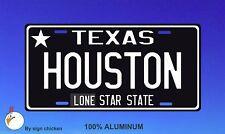 Texas -  HOUSTON -  License Plate  - Auto Car Bike Bicycle Tag