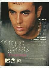ENRIQUE IGLESIAS Rhythm Divine Trade AD POSTER for Enrique CD 1999 MINT