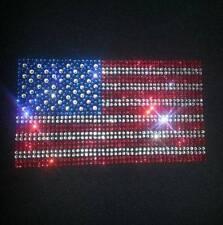 Beautiful Scale of American USA Flag DMC Rhinestone Shirt or Tank S-5XL 5 Styles
