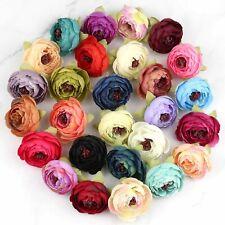 40/80 Artificial Silk Rose/ Small Peony Flower Heads Lot Fake Camellia DIY Craft