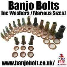 1Pc banjo bolt-standard acier/acier inoxydable (inc. rondelles) (diverses tailles)