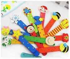 animaux mignon multicolor règle en bois signet fantaisie sac d'enfants Arrière
