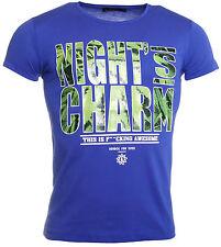 Rerock Party Herren T-Shirt  TS-165 Slimfit kurzarm rundhals blau