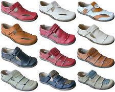 Damen Leder Freizeit Schuhe Sneakers Slipper Gr.36 - 41 Art.-Nr.B1960-1