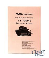 NEW Yaesu FT-7900R Operating Manual Book in English