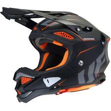 UFO Black Fluo Orange Diamond Motocross Helmet