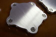 "Fits Coys C-5 Wheels Block-off Flat Aluminum Center Spindle Dust Caps 2 Pk 1/4"""