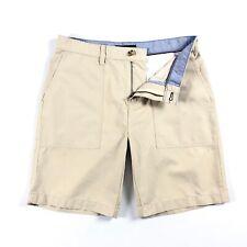 "TOMMY HILFIGER Shorts Men's Lightweight Crisp Chino Patch Pocket Sand Beige 9"""